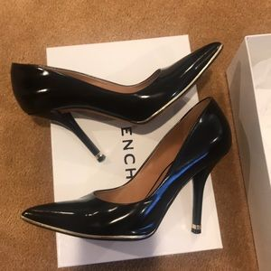 Givenchy black and gold stiletto heels